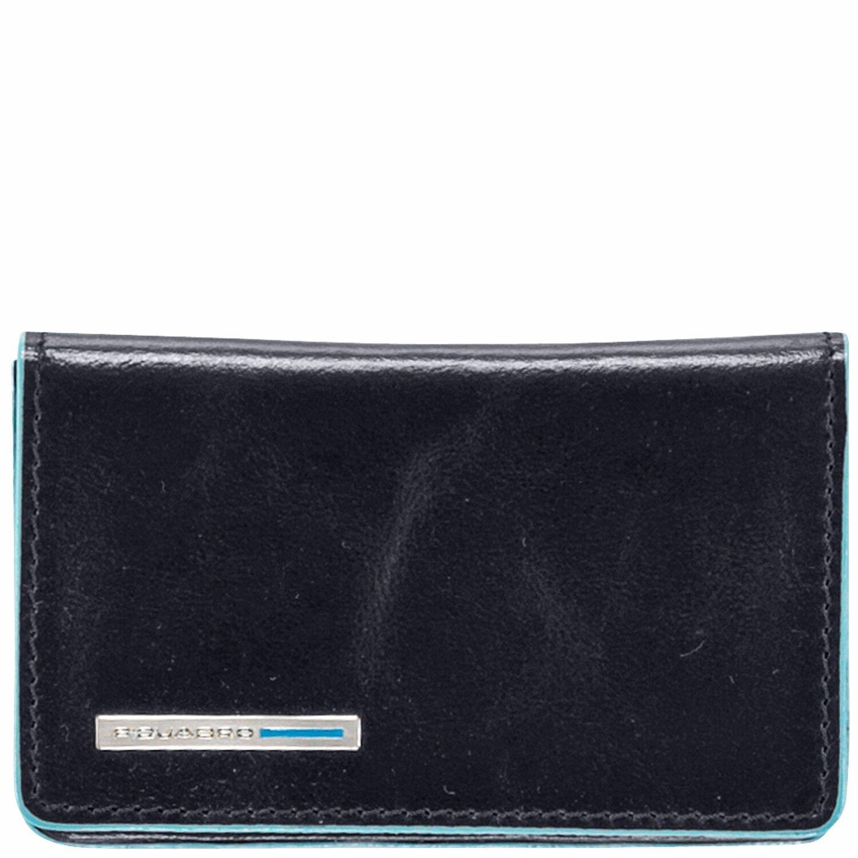 Piquadro Blue Square Visitenkartenetui Leder 10 Cm Blau