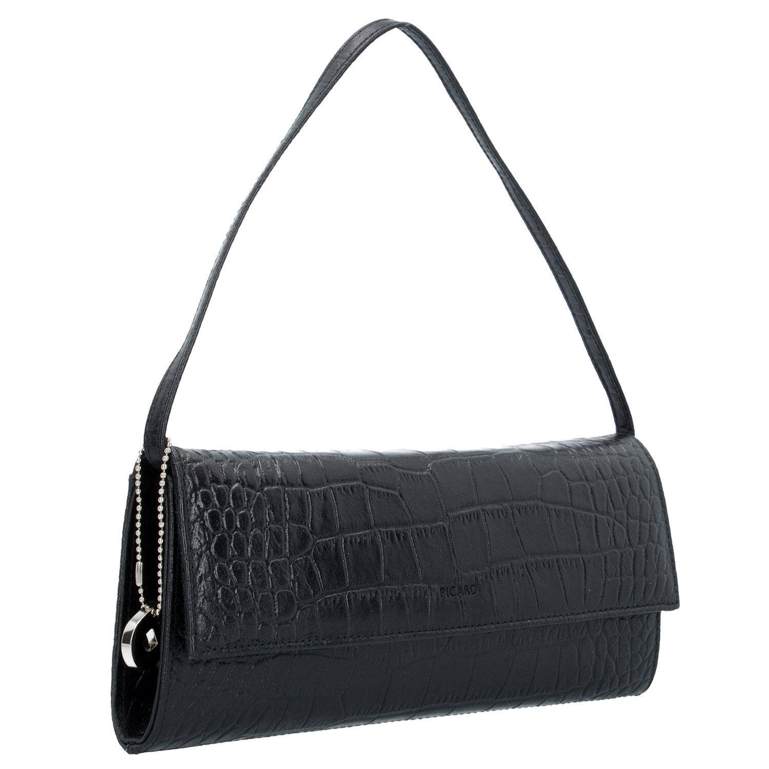 picard auguri clutch tasche leder 26 cm schwarz lack. Black Bedroom Furniture Sets. Home Design Ideas