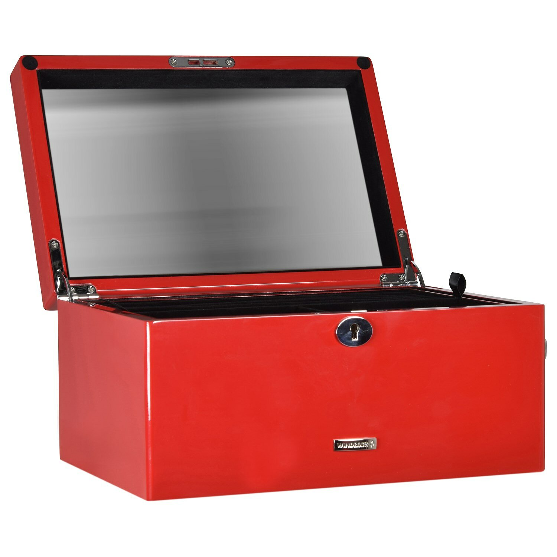 Windrose High Gloss Charmbox Schmuckkoffer M 30 cm schwarz