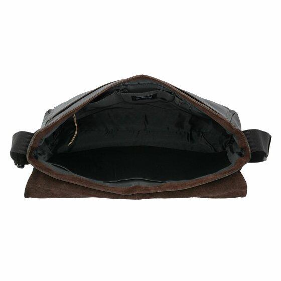 Strellson Camden Messenger Tasche Leder 40 cm dark brown